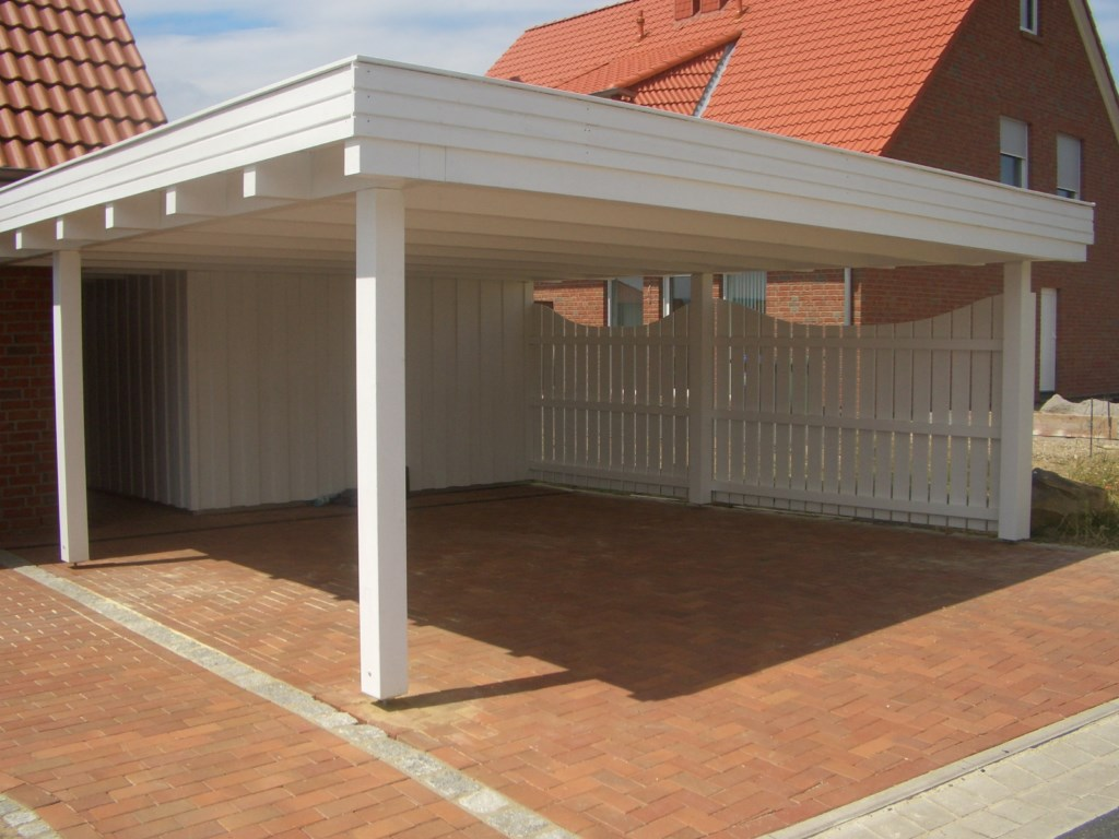 carport mit garagentor trendy beispiel nr sdc schrgdach carport mit ziegelbelag das heit bei. Black Bedroom Furniture Sets. Home Design Ideas