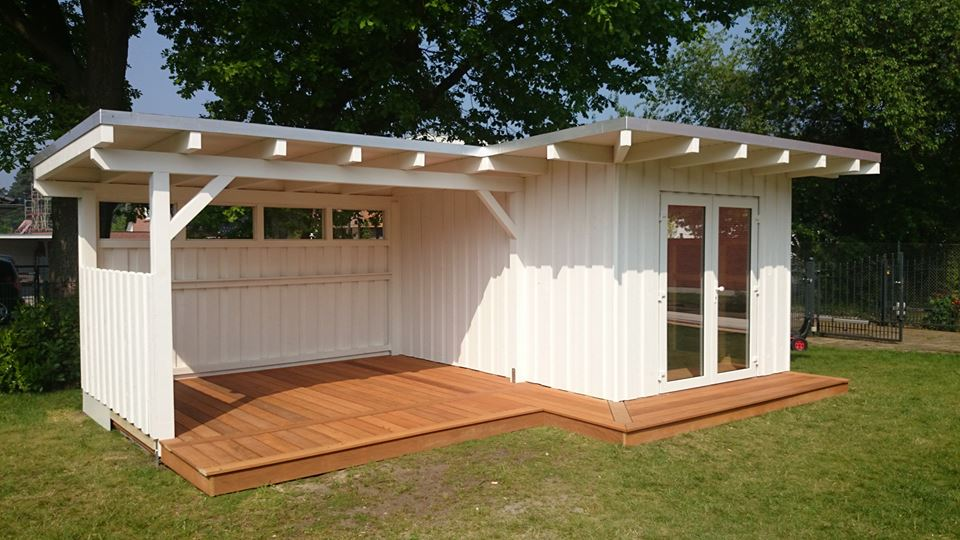 Gartenhaus mit Terrasse und Überdachung   Rahrig KreativAusbau